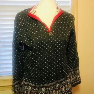 Breckinridge Sz small Winter zip pullover sweater